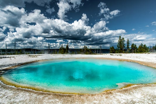 Hot Water Natural Pool In Yellowstone Np
