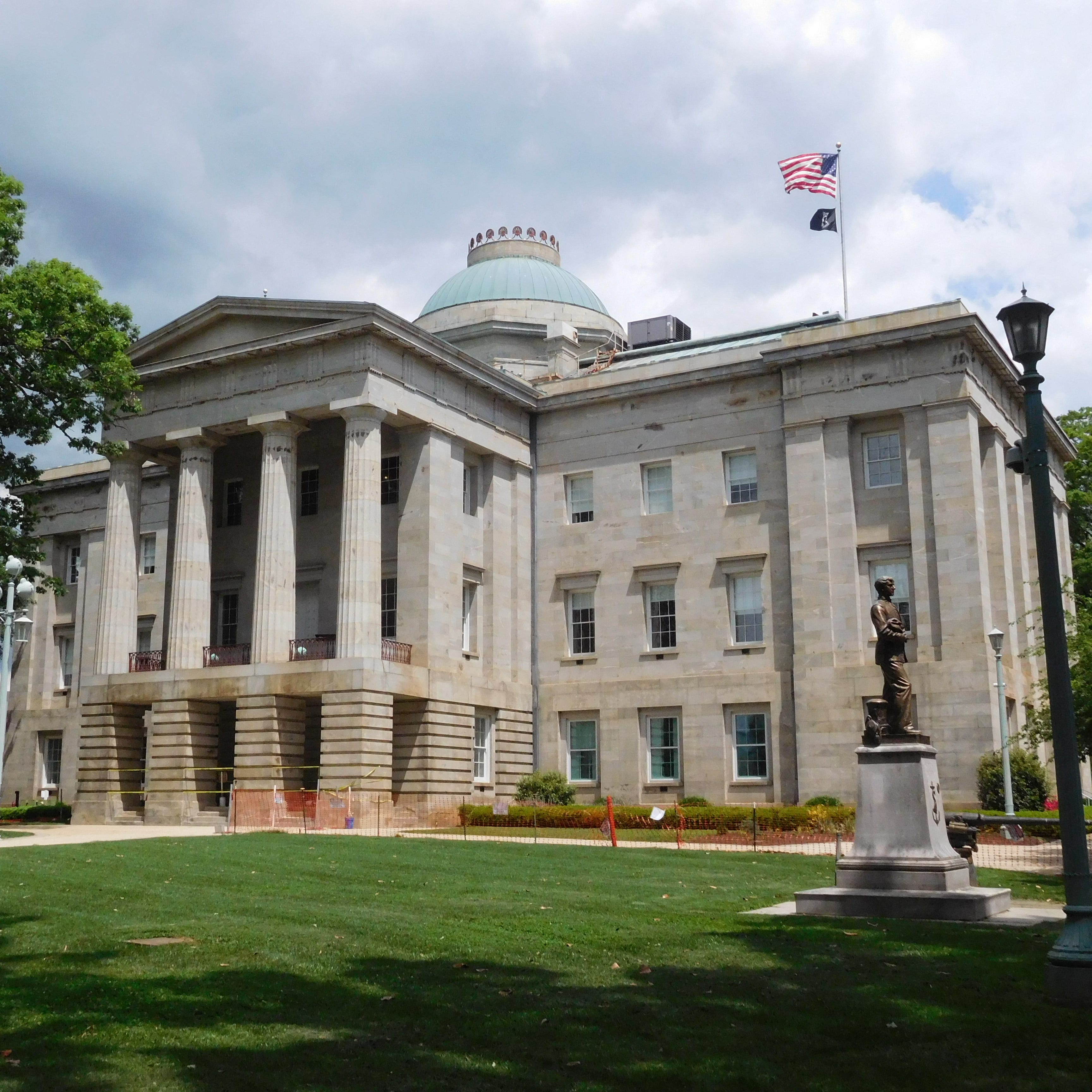 The state Capitol building in Raleigh.