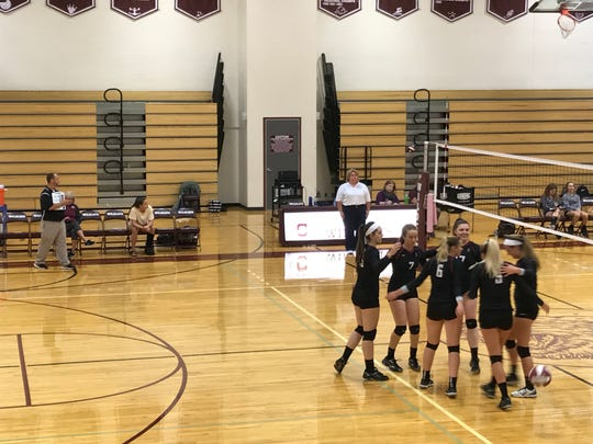 The Elmira High School volleyball team takes on Johnson City on Oct. 2.