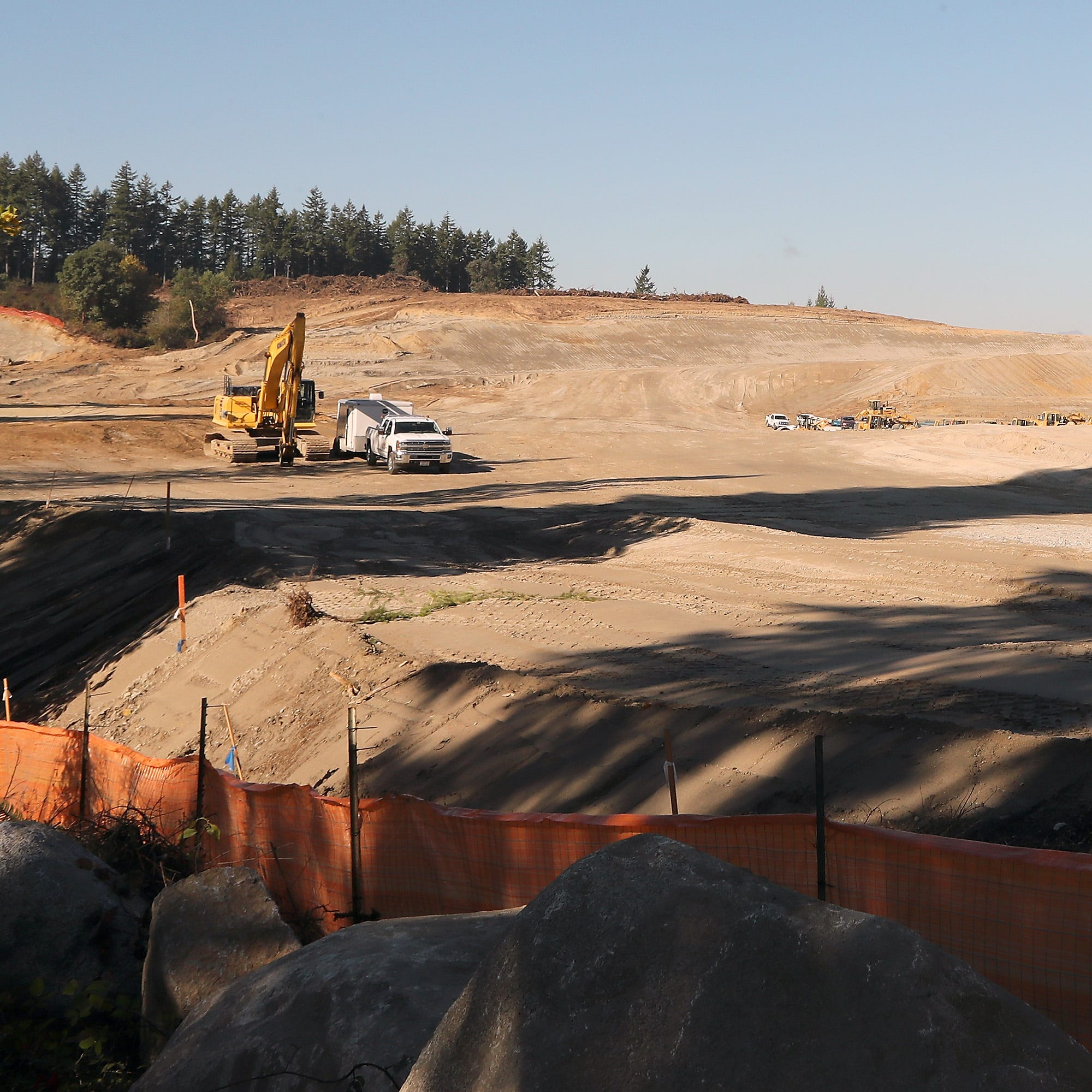 Grading is complete on a site in South Kitsap off Glenwood Road - slated for single-family homes- on Friday, October 12, 2018.