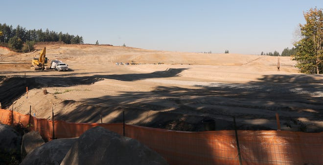 Grading is complete on a site in South Kitsap off Glenwood Road — slated for single-family homes.