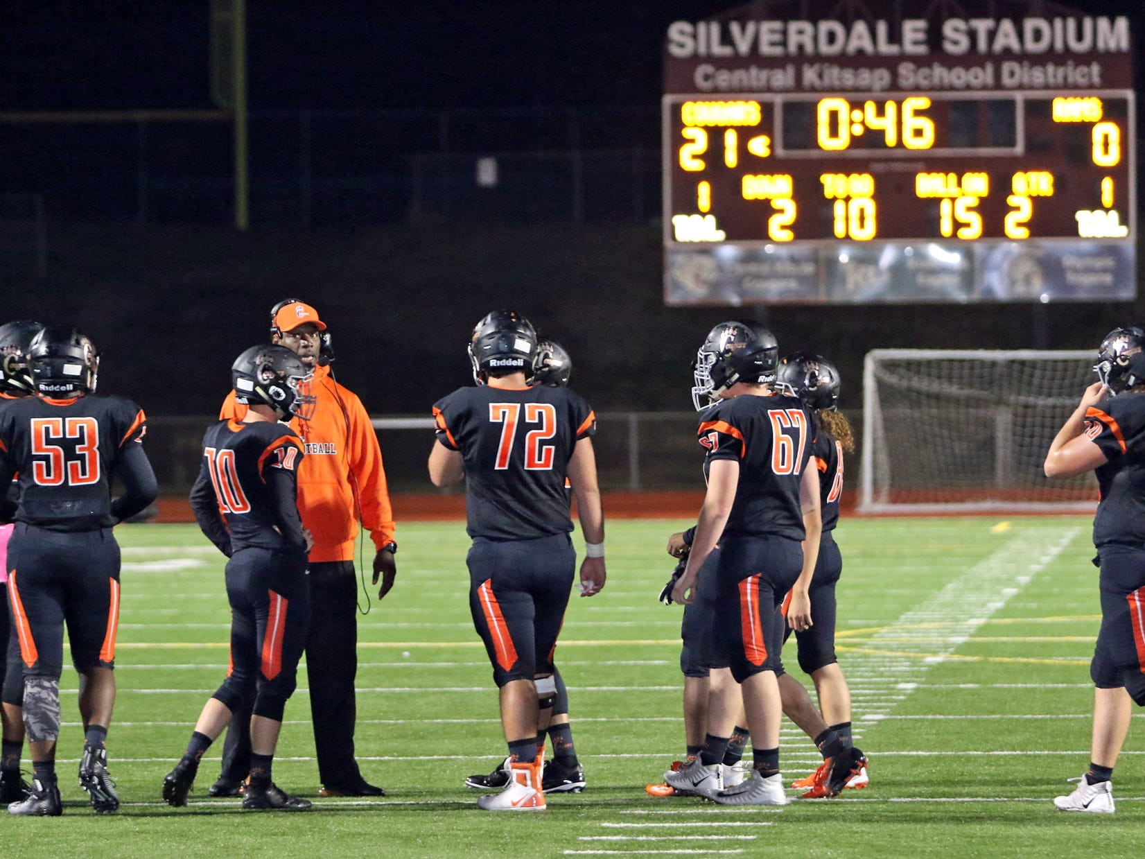 The Central Kitsap Cougars defeated the North Thurston Rams Friday night, October 12th at Silverdale Stadium.