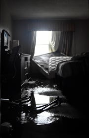 A hotel room at Country Inn and Suites in Panama City sits empty after Hurricane Michael removed part of the roof. Mandatory Credit: Craig Bailey/FLORIDA TODAY via USA TODAY NETWORK