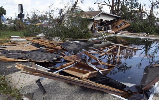 Much of a worksheet ended up in the pool of Janice Mikula's home in Panama City.