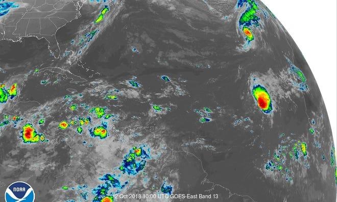 Atlantic conditions 6 a.m. Oct. 12, 2018
