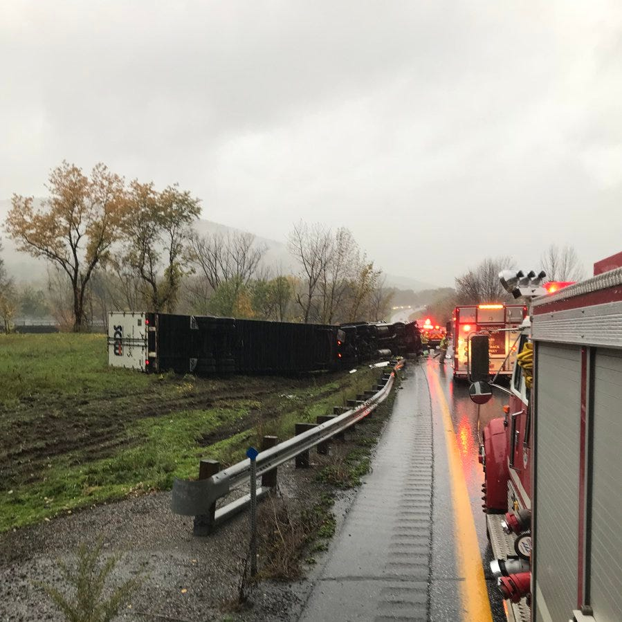 Vermont State Police: Speed, road conditions caused Interstate 89 tractor trailer crash