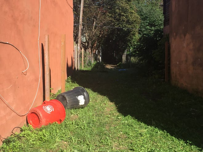 A body found in an alley off Mount Ephraim Avenue was that of a young child, authorities said Friday.