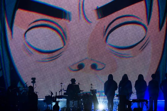 The Gorillaz perform Thursday, Oct. 11, 2018 at the Wells Fargo Center in Philadelphia, Pa.