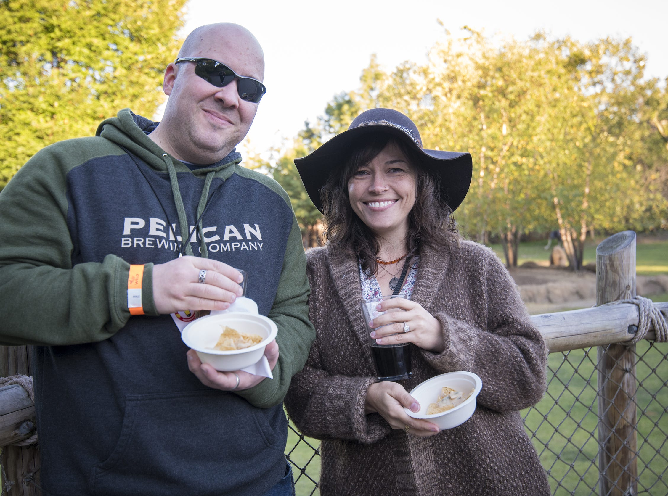 Rob and Amy Boulle of Milford attend Zoo Brew.