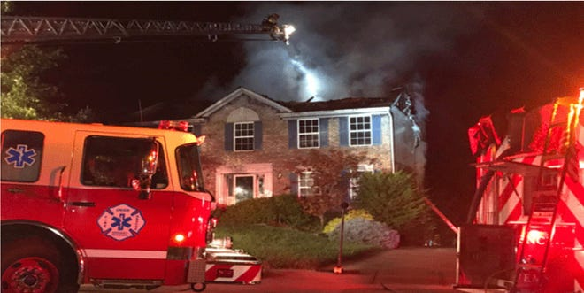 Fire broke out at a house on Maybury Court in Florence early Friday.