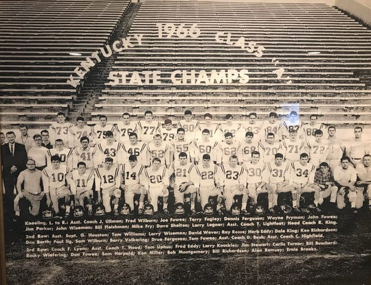 Dayton's 1966 football team went 10-3 and won the school's first state championship despite being underdogs in all three of its playoff games.
