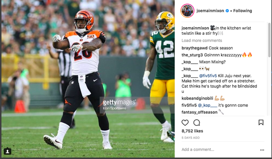 Vontaze Burfict responding to calls to go after JuJu Smith-Schuster.