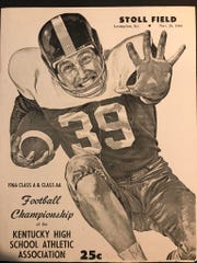 The state championship program for Class A and AA in 1966. The game's were held at Stoll Field in Lexington.