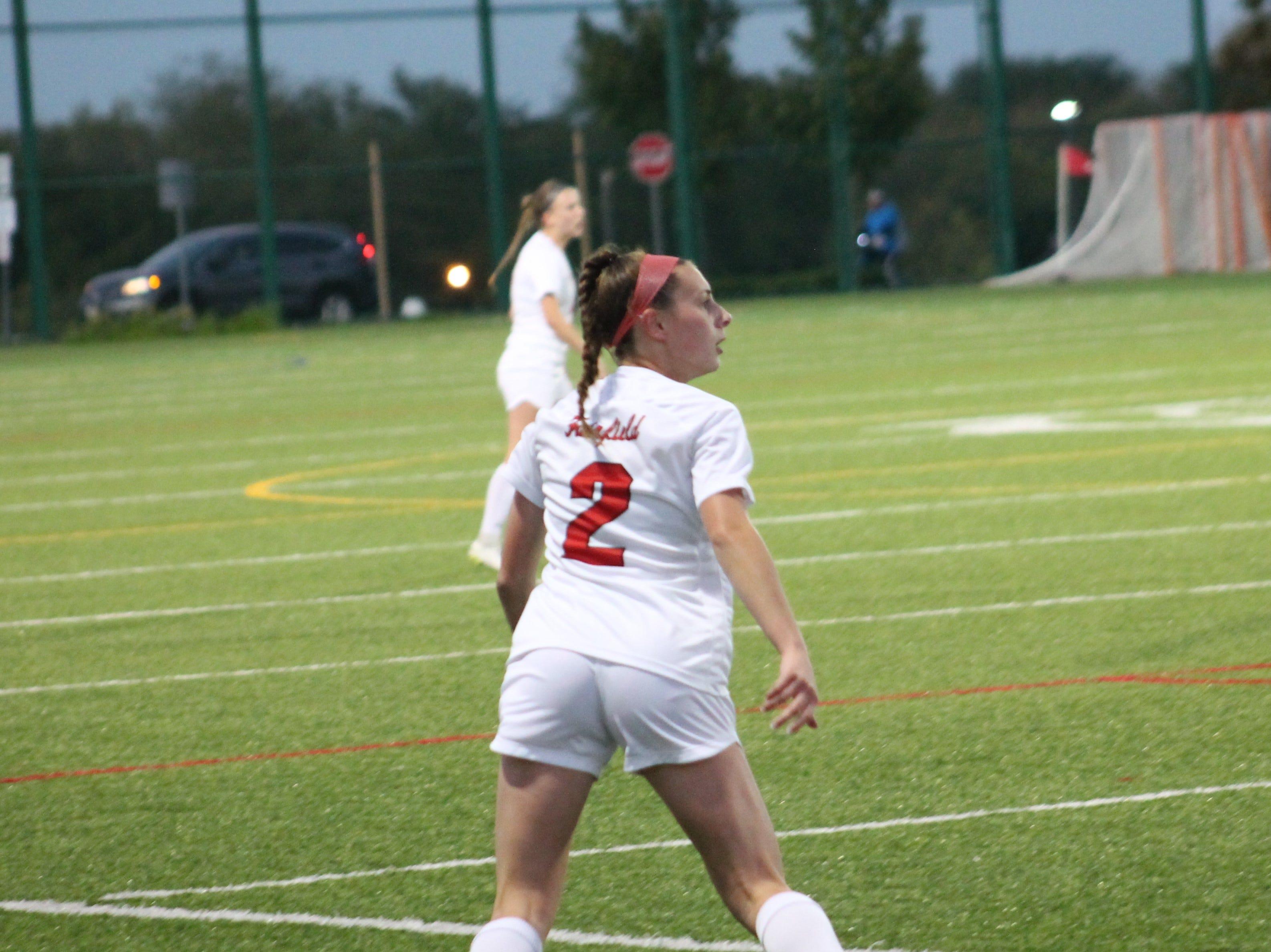 Fairfield junior midfielder Rachel Smith awaits a pass