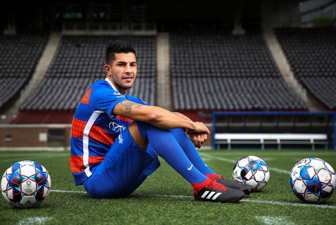 FC Cincinnati midfielder Emmanuel Ledesma is pictured, Thursday, Oct. 11, 2018, at Nippert Stadium in Cincinnati. Ledesma leads the team with 16 goals, good for fifth in the USL. He also has tallied a league-leading 15 assists. He is among the contenders for the USL's Most Valuable Player award.