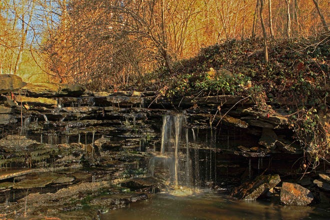 The Highland Cemetery Trails are 4 miles on 150 acres of undeveloped cemetery property in Fort Mitchell. A popular feature is its waterfall.