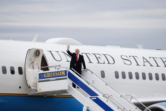 Trump at airport