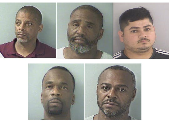 Clockwise from upper left: James Carter, Jan Carlos Murrell, Cesar Diaz-Gomez, Anthony Phillips, Charles Oden
