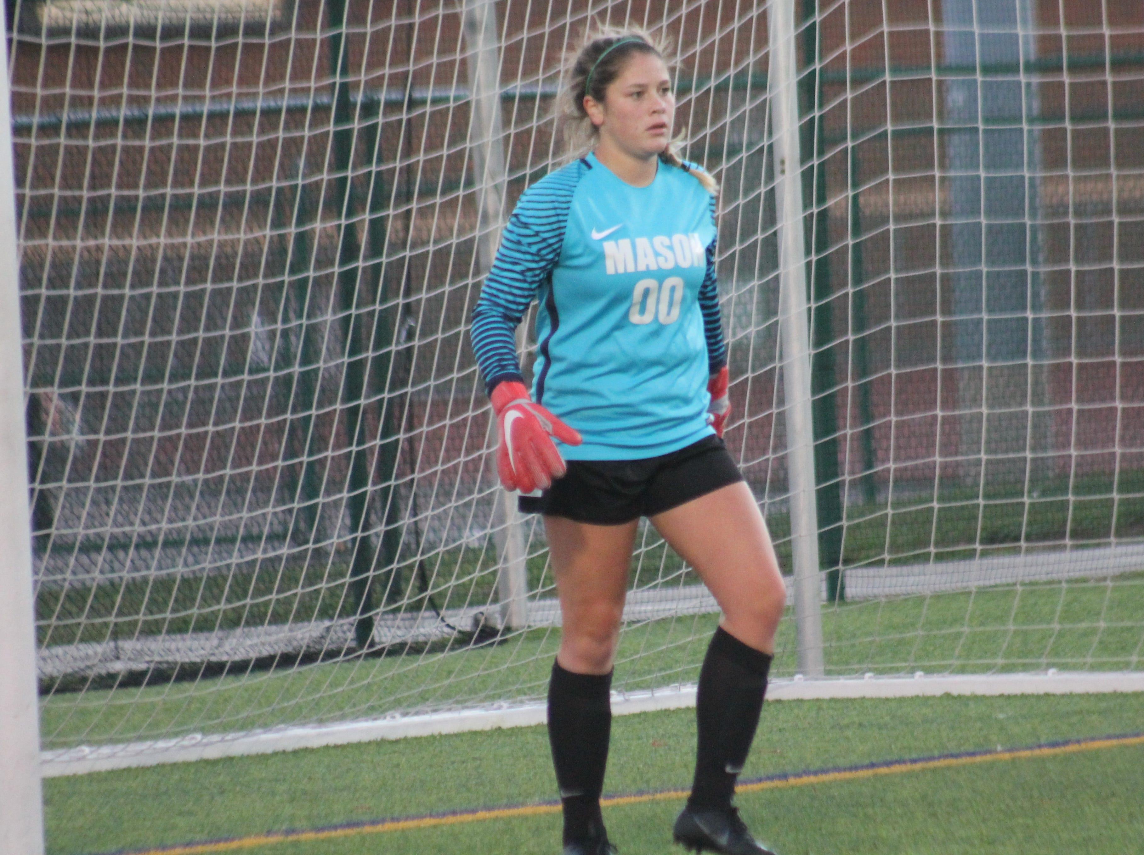 Mason junior goalkeeper Bethany Moser had the shutout against Fairfield 1-0 Oct. 12