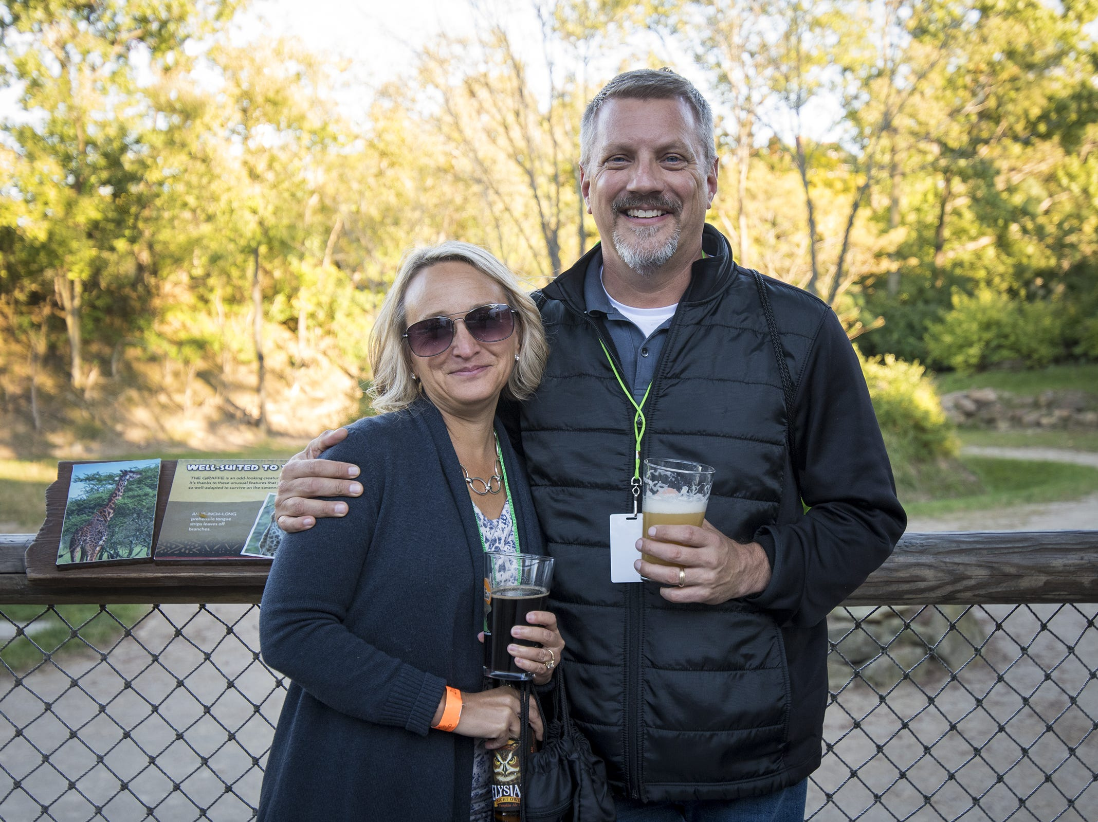 Kathy and Jim Schierer of Lakeside Park, Kentucky attend Zoo Brew.