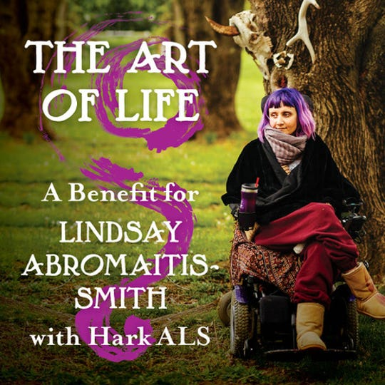 HARK-ALS, a Hillsborough based ALS non-profit organization, will host a benefit for Flemington artist, Lindsay Abromaitis-Smith, diagnosed with ALS in 2012, on Oct. 13 from 6 to 9 p.m. at the Beaverbrook Country Club, Country Club Drive.