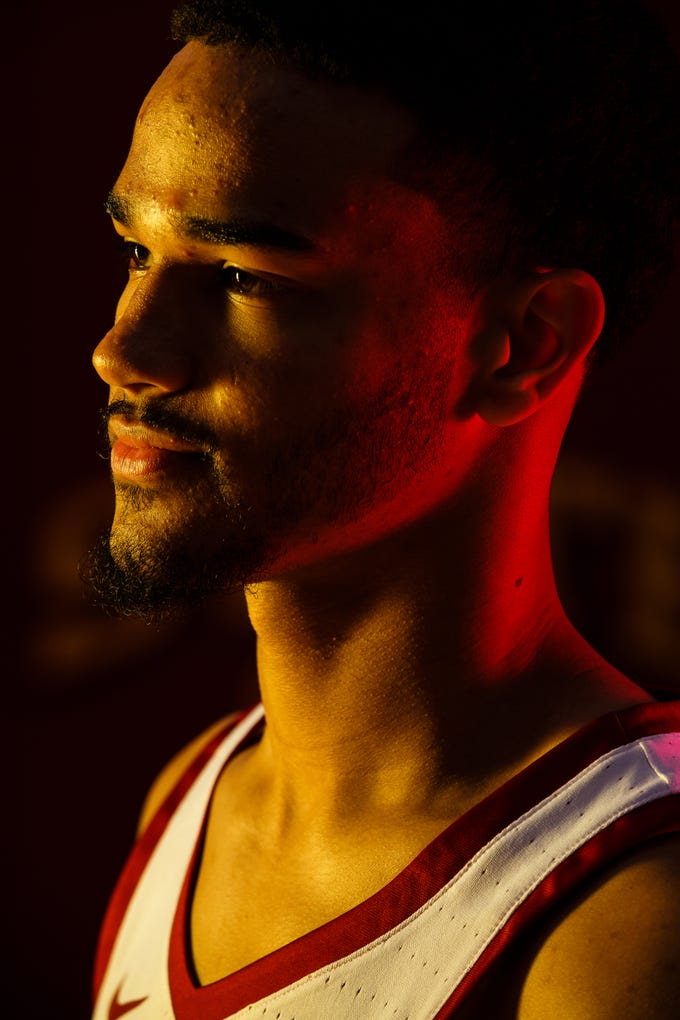 Iowa State's Nick Weiler-Babb poses for a photo during media day on Thursday, Oct. 11, 2018, in Ames.