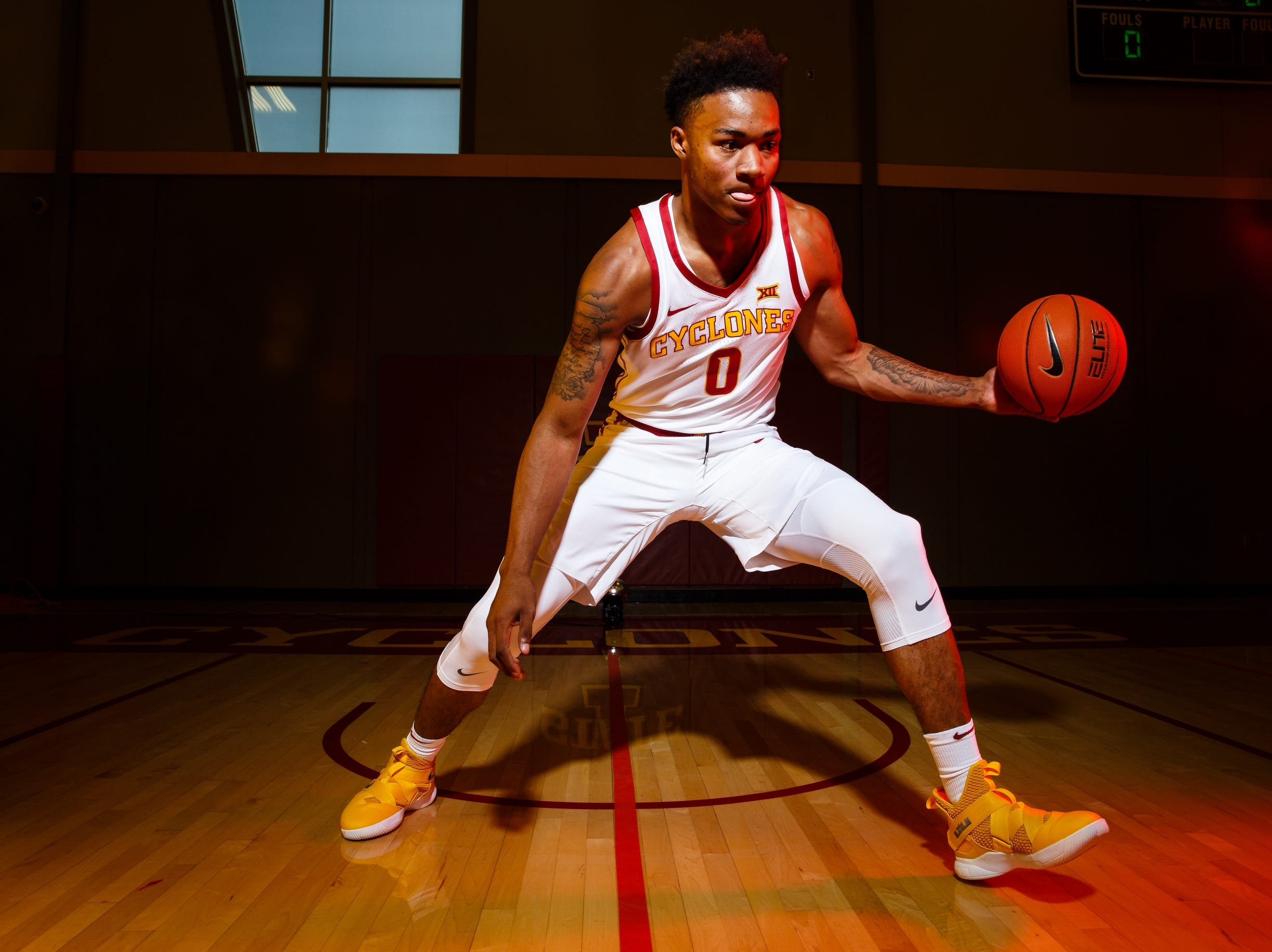 Iowa State's Zion Griffin poses for a photo during media day on Thursday, Oct. 11, 2018, in Ames.