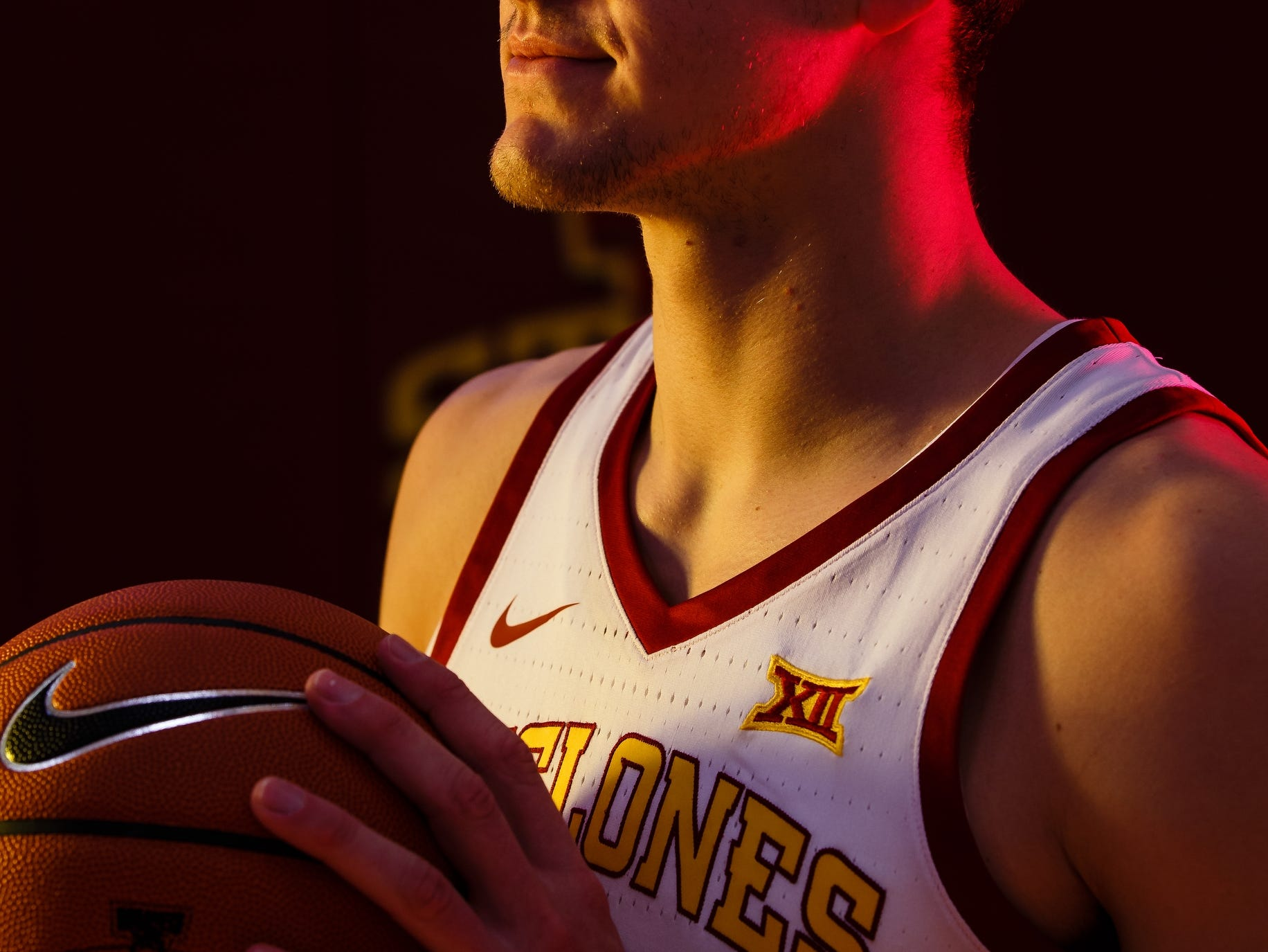 Iowa State's Michael Jacobson poses for a photo during media day on Thursday, Oct. 11, 2018, in Ames.