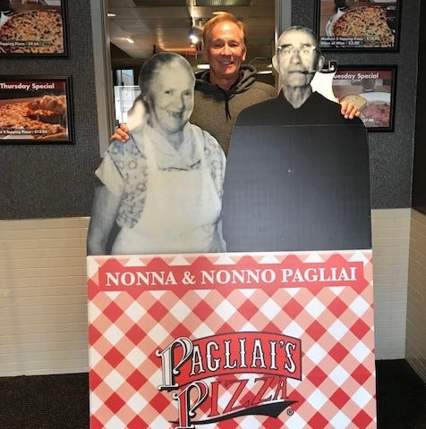 Strike a pose with Nonno and Nonna Pagliai and you could win a free pizza