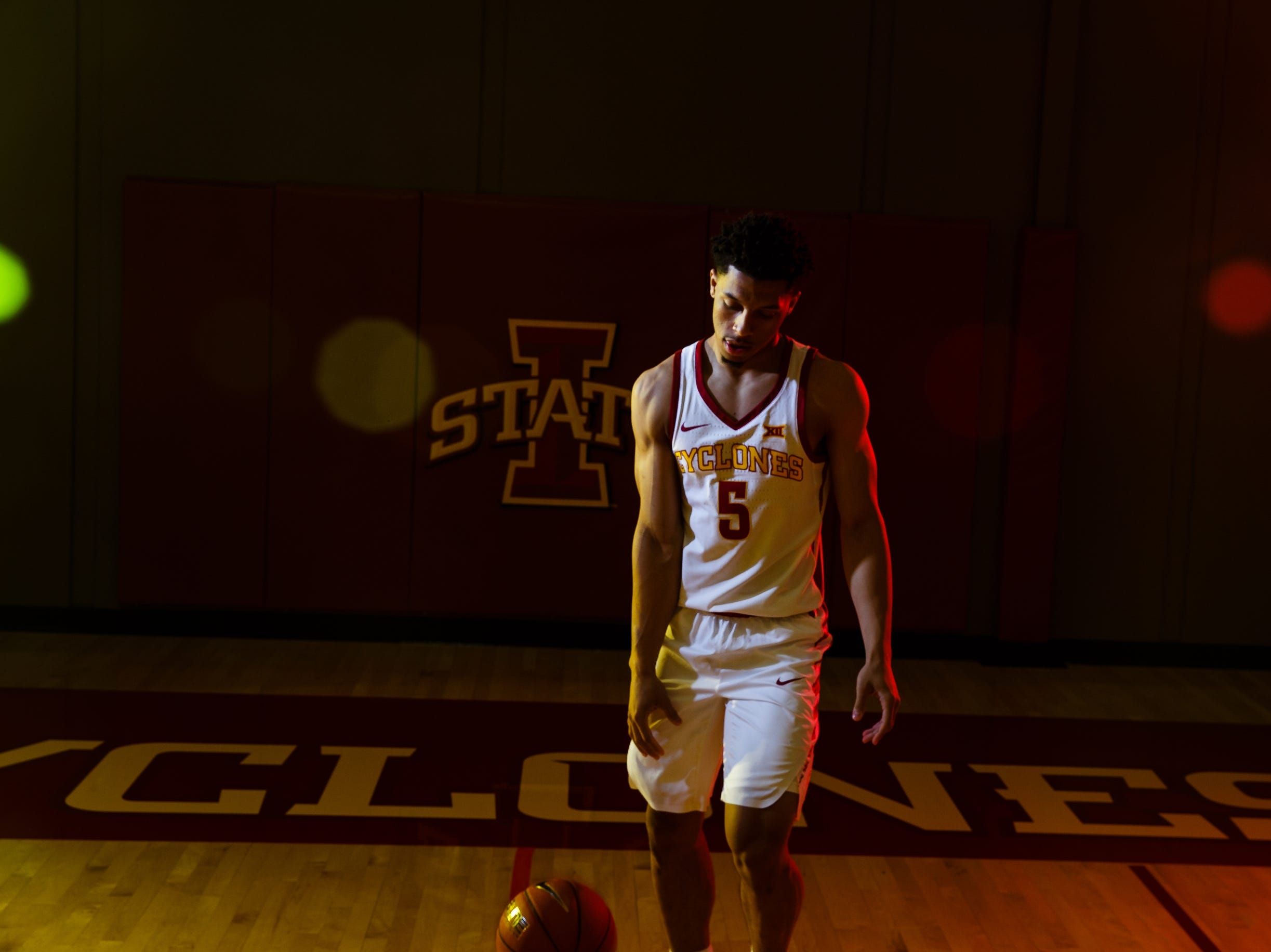 Iowa State's Lindell Wigginton poses for a photo during media day on Thursday, Oct. 11, 2018, in Ames.