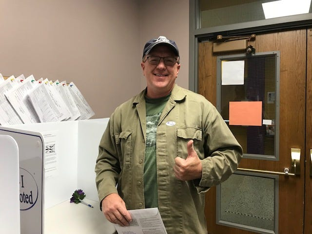 Troy Westrum, a Norwalk resident for most of his life, said he stopped into the Warren County auditor's office to vote because it's his civic duty.