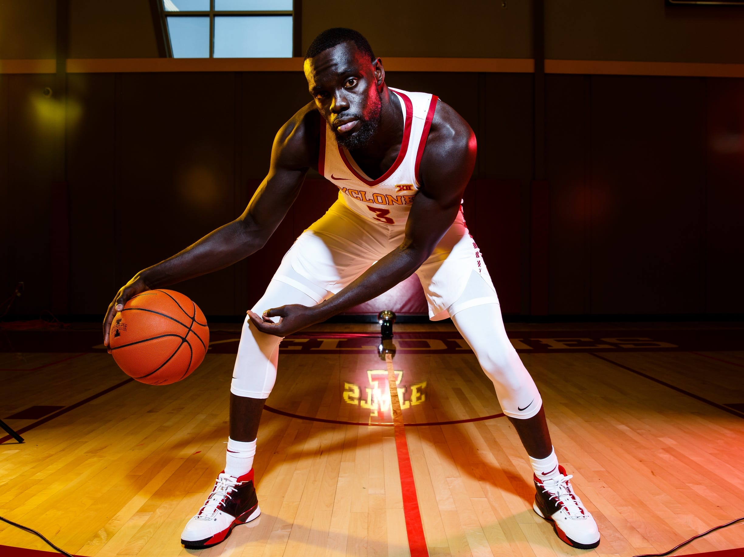 Iowa State's Marial Shayok poses for a photo during media day on Thursday, Oct. 11, 2018, in Ames.
