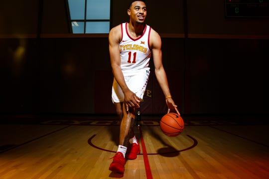 Iowa State's Talen Horton-Tucker poses for a photo during media day on Thursday, Oct. 11, 2018, in Ames.