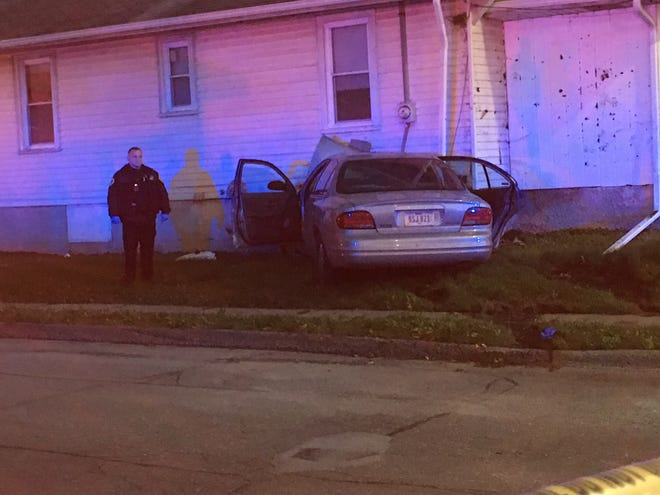 The driver of the vehicle had a self-inflicted gunshot injury and crashed into the home on the corner of Arthur Avenue and East 14th Street after a short pursuit, is now in critical condition.