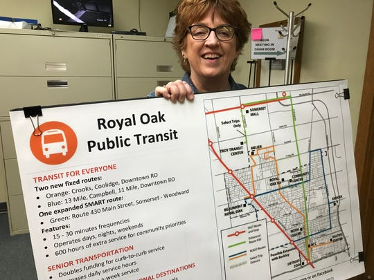 Royal Oak resident Marie Donigan chaired a study group that proposed a controversial local bus system, needing a proposed property-tax increase.