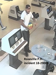 Roseville Police are looking for a man who assaulted an Apollo Lanes employee with a stool and a bowling ball Oct. 10, 2018.