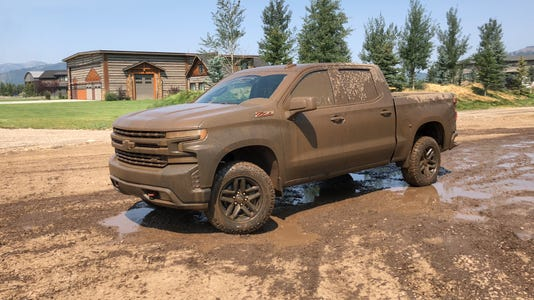 Mud-covered 2019 Chevrolet Silverado