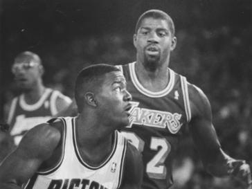 DETROIT PISTONS: Joe Dumars, G, No. 4 (player, 1985-99; GM, 2000-14)