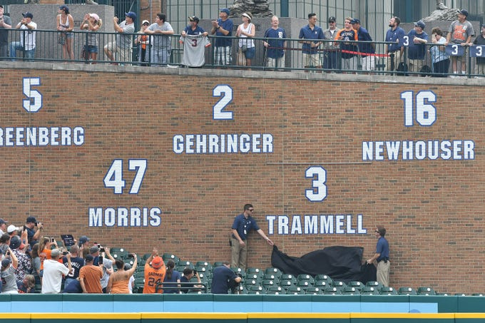 Alan Trammell's No. 3 by the Tigers was the most recent number retired by a Detroit sports team, in 2108. Here's a look at all the retired numbers among the Detroit pro sports teams.