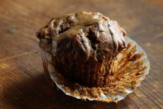 Banana-nut muffins are familiar, but the espresso powder in the batter enhances the flavor. The espresso-cinnamon glaze is optional ... but highly recommended.