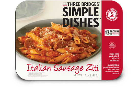 Three Bridges Simple Dishes Italian sausage zitti is being recalled.