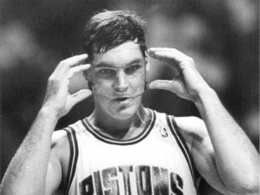 DETROIT PISTONS: Bill Laimbeer, C, No. 40 (1982-93)