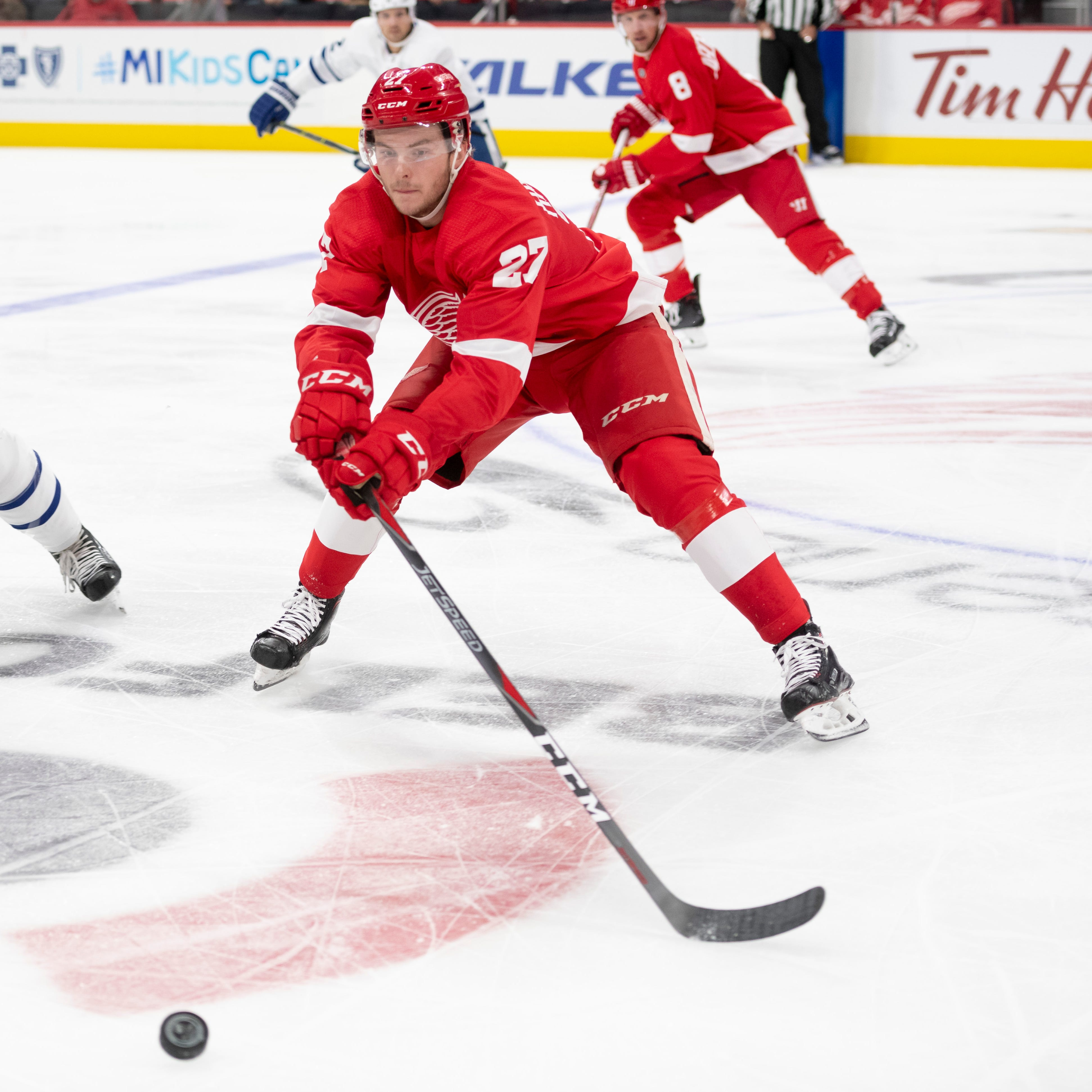 Rasmussen is odd man out in Red Wings' lineup shuffle
