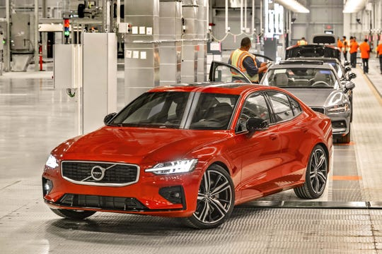 Production of the Volvo S60 sedan started at the Swedish company's new South Carolina plant this month. The  S60 will be exported as well as sold in the US.