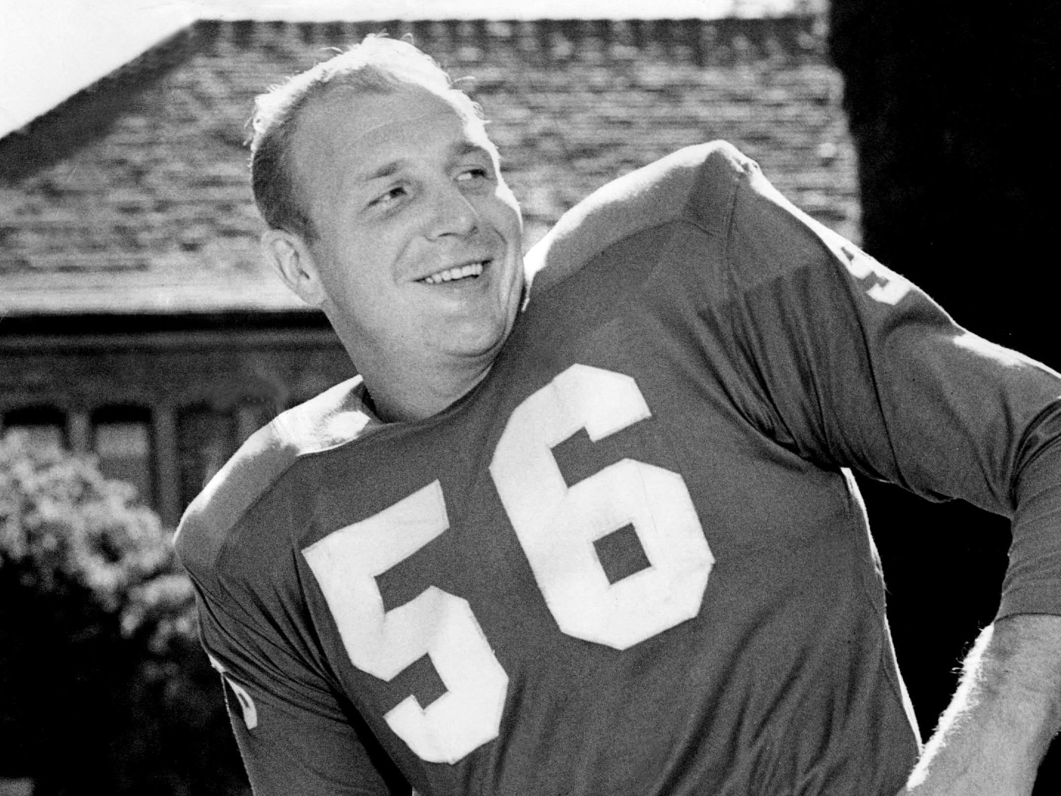 DETROIT LIONS: Joe Schmidt, LB, No. 56 (player, 1953-65; coach, 1967-72)