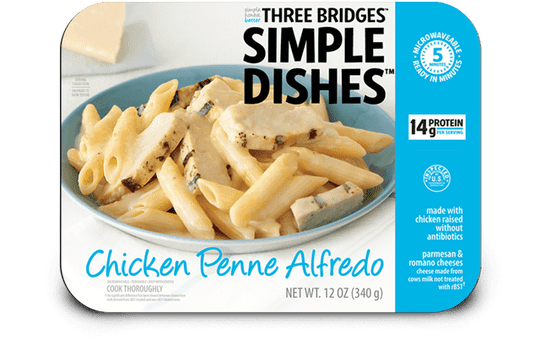 Three Bridges Simple Dishes chicken penne alfredo is being recalled.
