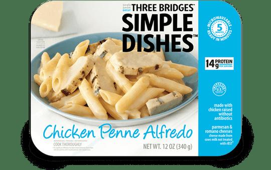 Three Bridges Simple Dishes chicken penne alfredo is being recalled.