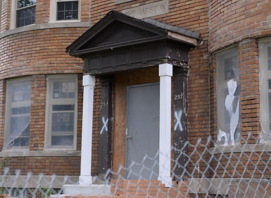 Exterior of the house at 253 Marston St. in Detroit.