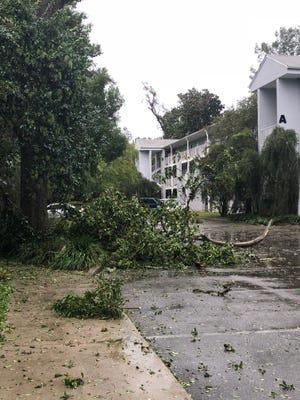 Whitehall Apartments after Hurricane Michael.