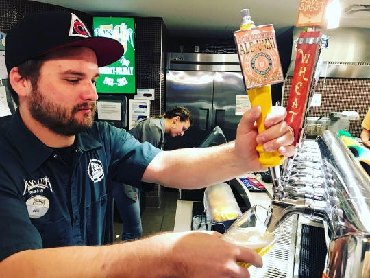 The Colorado State University fermentation science program tapped its first student-made beer on Friday, a golden ale called Ale-Umni.